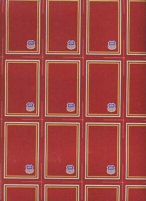 Sheet of Uncut Union Pacific Railroad Playing Cards  GEMACO Red Backs
