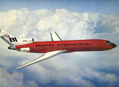 Braniff International Jellybean Red Boeing 727 Picture by Robert L Smith