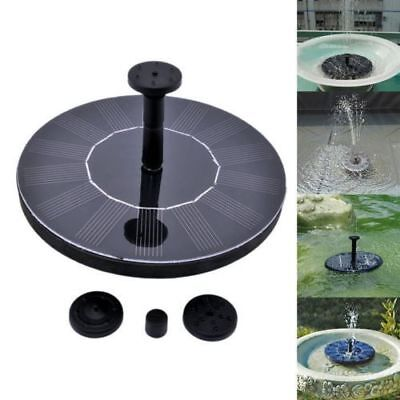 Solar Panel Powered Submersible Floating Fountain Garden Pool Pond Water Pump CA