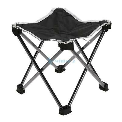 Aluminium Foldable Chair Outdoor Camping Garden Hiking Seat Lightweight Stool CA