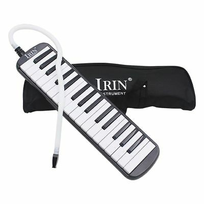 Piano Style Melodica With Box Organ Accordion Mouth Piece Blow Key Board W4G8