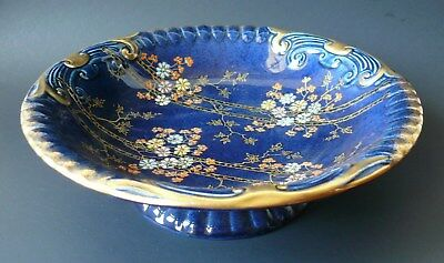 Beautiful Large Hand Painted Art Deco 'Crown Devon' Fielding's Footed Bowl