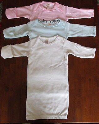 Baby Girl Boy Layette Nightgown Nightdress Nighty Nightie Cotton Pyjamas 0-3 Mth