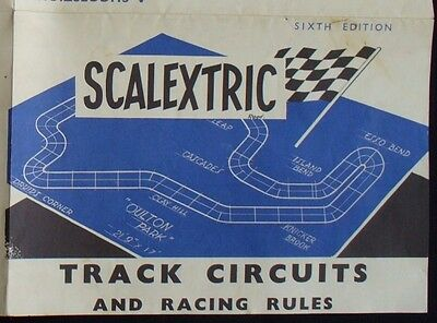 Vintage Scalextric Track Circuits and Racing Rules 6th Edition, 1960s