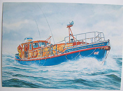 RNLB 'SILVER JUBILEE' ROTHER CLASS LIFEBOAT ~ MARGATE 37-33 ~LIMITED Ed ART PPC