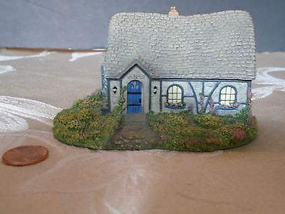 "Thomas Kinkade - 1993 - Sculpture #8740A Hawthorne ""Chandler's Cottage"""