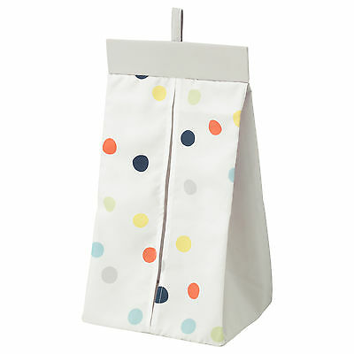 IKEA DRÖMLAND (Dromland) Nappy Stacker 30x52x22cm (White/Multicoloured Dots)