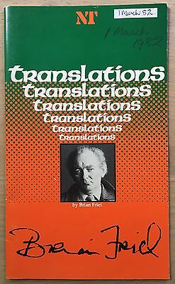 TRANSLATIONS Brian Friel THEATRE PROGRAMME NT 1982 Gabriel Byrne DONEGAL