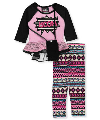 RMLA Little Girls' 2-Piece Outfit with Purse (Sizes 4 - 6X)