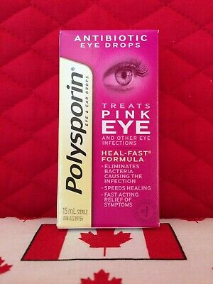Polysporin Antibiotic Eye Drops. Treats pink eye infection. Ships fast from USA!
