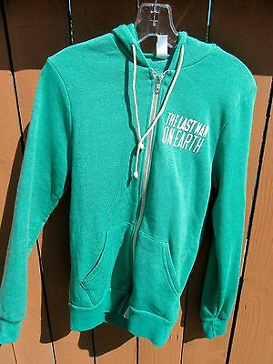 """""""THE LAST MAN ON EARTH"""" (Will Forte) TV SHOW Promotional Fleece Hoodie SMALL"""