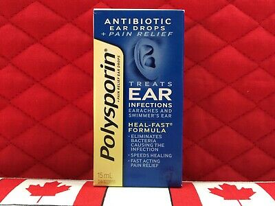 Polysporin Antibiotic Ear Drops. Treats ear infections. Ships fast from USA!
