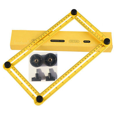 Metal Folding Rule Measuring Tools Multi-Angle Four Sides Variety Shapes