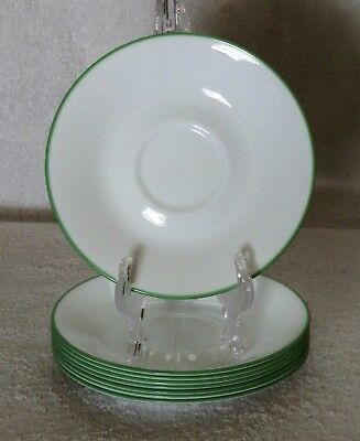 """Set Of 8 Corelle *my Garden* 6-1/4"""" Saucers Great Condition"""