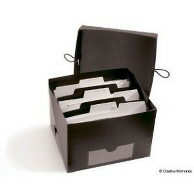 Creative Memories Power Sort Mini Box 3 Compartment Boxes 6 Dividers Retired New