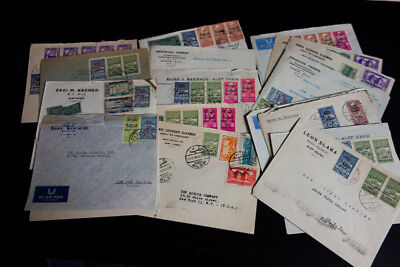 Syria 1945 Great Cover Lot of 19x Alep Syria to NY w/ Stamps