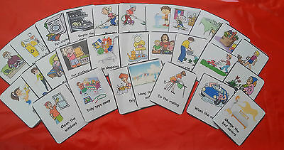 Chore Cards - 28 Flash Cards - Communication / Special Needs/ Autism/ Eyfs