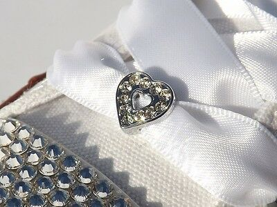 Crystal Rhinestone Shoe Charms & White Satin Ribbon Shoelaces For Bling Trainers
