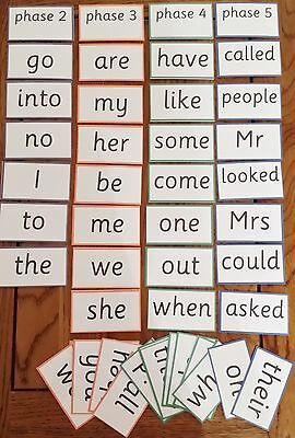 Tricky Words - Colour Coded Phase 2-5- Reading/writing/spelling/recognition