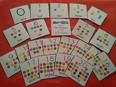 Numbers / Counting - 0-20- Flash Cards - Eyfs - School/ Home/ Childminder/ Sen