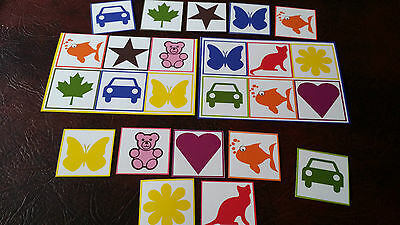 My First Bingo/Lotto Matching Game - learn colours- 2/4/6 player options Toddler