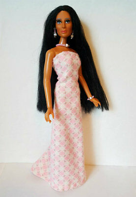 Mego CHER and Farrah Doll Clothes DIAMONDS Dress and Jewelry Fashion NO DOLL d4e
