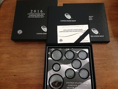 2016 US Mint Limited Edition Silver Proof set  OGP ONLY, NO COINS