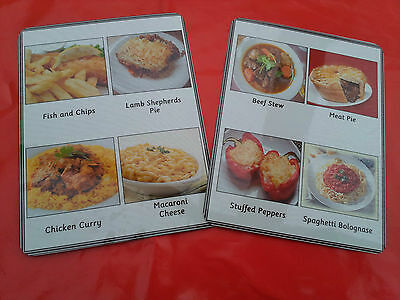 Food Menu Cards -28 Main Meals Dementia /Alzheimers/Special Needs /Communication