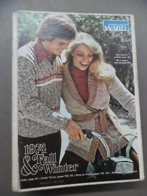 1974 Montgomery Ward Fall & Winter Catalog Fashion Home Decor Vintage Hard Cover