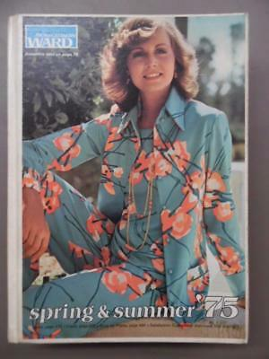 1975 Montgomery Ward Spring/Summer Catalog Fashion Home Decor Vintage Hard Cover