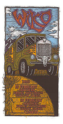 Wilco 2010 Canadian Tour SIGNED Gary Houston Poster