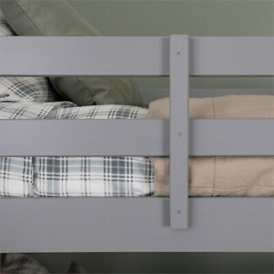 Walker Edison Twin Over Twin Bunk Bed In Gray 289 17 Picclick