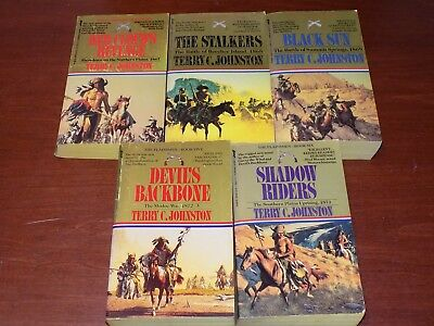 Lot of 5 Plainsmen books by Terry C. Johnston PB #2-6