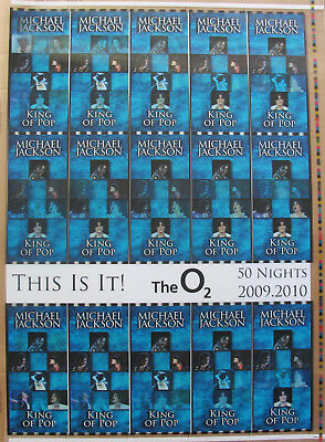 MICHAEL JACKSON THIS IS IT Rare Undistributed AEG Hologram Concert Ticket Sheet