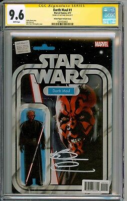 Darth Maul  #1  Action Figure Variant  Cgc Ss 9.6  Signed By Ray Park