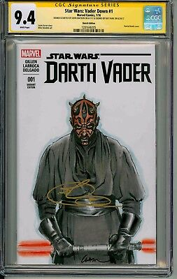 Vader Down  #1  Cgc Ss 9.4  Signed By Ray Park & Sketched By John Watson