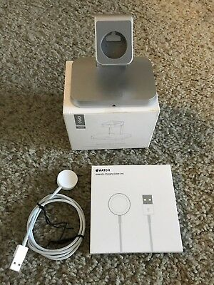 Bundle: Apple Brand Magnetic Charger Charging Cable(1m) with a docking station