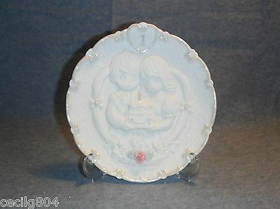 PRECIOUS MOMENTS  1st  ANNIVERSARY PLATE W/EASEL BY ENESCO