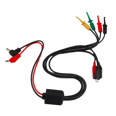 2 Alligator Clips 2 Banana Plugs 4 Hook Clips Power Supply Test Lead Cable Kit