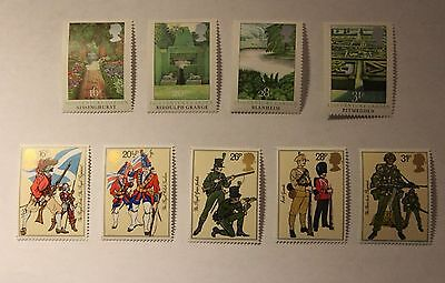 Great Britain 2 1983 sets Regiments and English Gardens VF MNH
