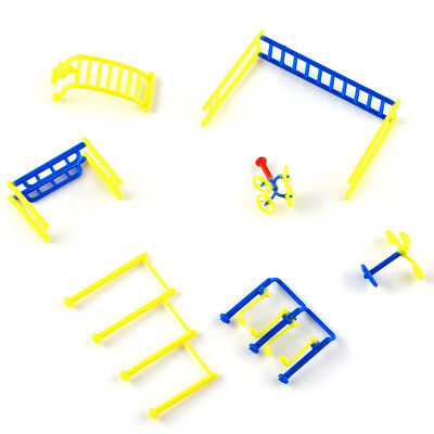 7x Fitness Gym Equipment Model Chinese Construction Educational 1:75-1:100 Scale
