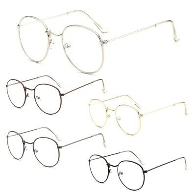 Round Vintage Eyeglass Metal Frame Glasses Men Women New Spectacles Clear Lens