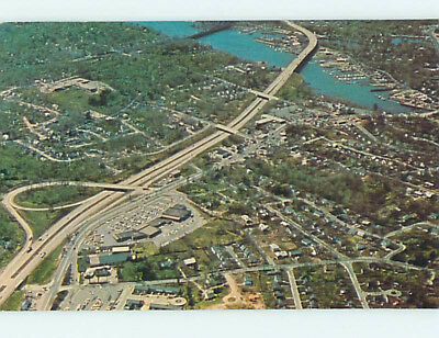 Pre-1980 AERIAL VIEW State Of CONNECTICUT hs8375
