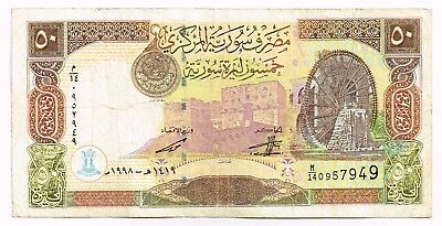 1998 SYRIA 50 POUNDS NOTE - p107