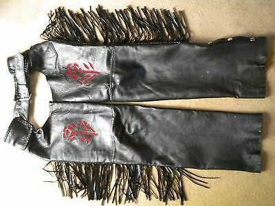 Leather Motorcycle chaps