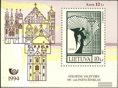 Lithuania block4 (complete.issue.) unmounted mint / never hinged 1994 Stamp
