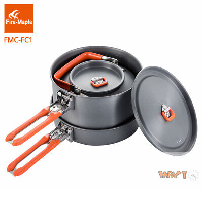 Fire-Maple Outdoor Camping Cookware Set 4~5 Persons Fry Pan Pot Kettle Board