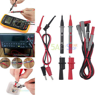 8 PCS Electronic Multimeter Test Leads Kit with Alligator Clips Probe Mini-hooks