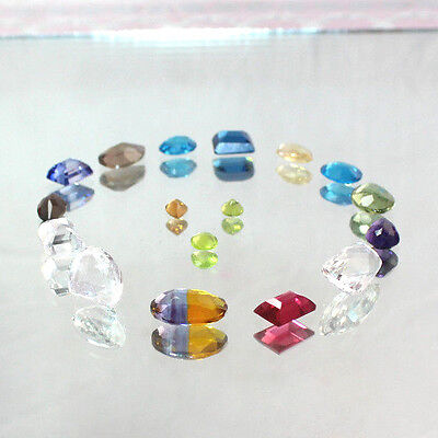 159 Cts 18 Pec Beautiful Faceted Cut Multi Color Mix LOT LOOSE GEMSTONE