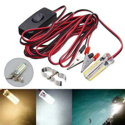 3/5/7/12W 12V Underwater Silica gel LED Fishing Night Light Boat Attract Fish